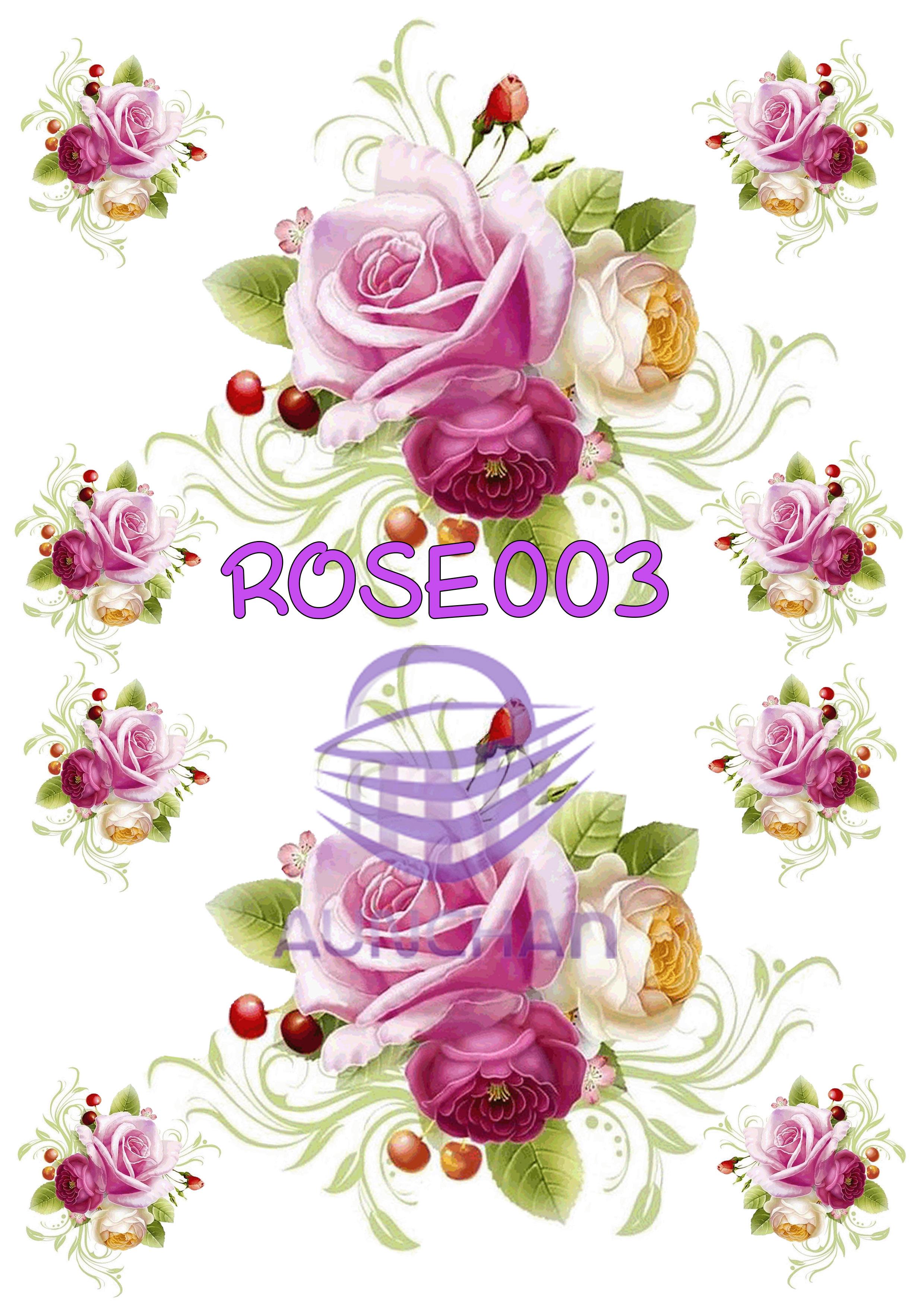 ROSE003 กระดาษแนพกิ้น 21x30ซม. ลายกุหลาบ