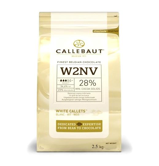Callebaut white choc 28% 2.5 kg