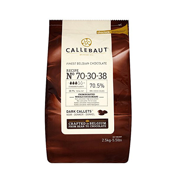 Callebaut Dark choc 70.5% 2.5 kg