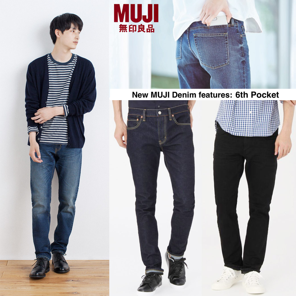 MUJI Stretch Slim & Tapered Denim ( New Feature 6 Pocket )