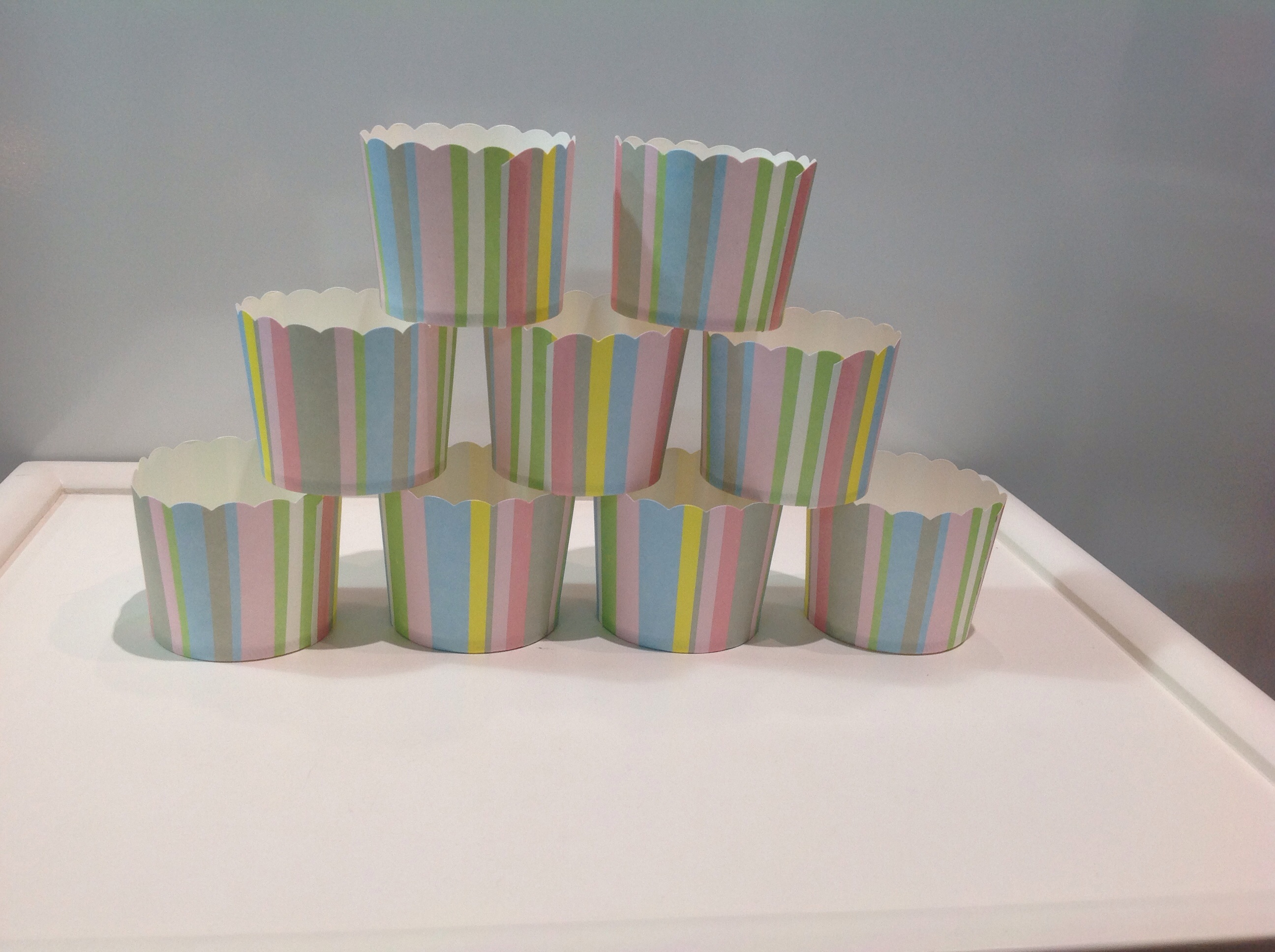 PC-EI-M60/55 STRIPE/B Muffin cup Stripe/Mix ลายทาง