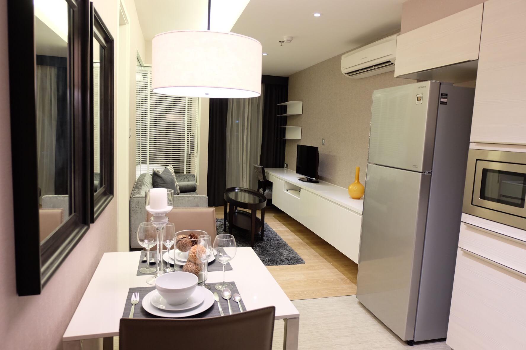 รหัสทรัพย์ 30006 ให้เช่าคอนโด H Sukhumvit 43 (เอช สุขุมวิท 43) ห้อง 1 ห้องนอน 1 ห้องน้ำ พื้นที่ 39 ตร.ม ชั้น 16 ราคาเช่า 38,000 บาทต่อเดือน สัญญาเช่า 1 ปี