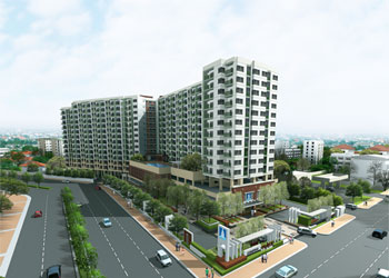 ให้เช่าคอนโดลุมพินี เพลส Lumpini Place Ramindra condo ราคา 21,000 / เดือน 2 ห้องนอน พื้นที่ 65 ตร.ม. ชั้น7 วิวสนามกอลฟ์ ด้านตะวันออก