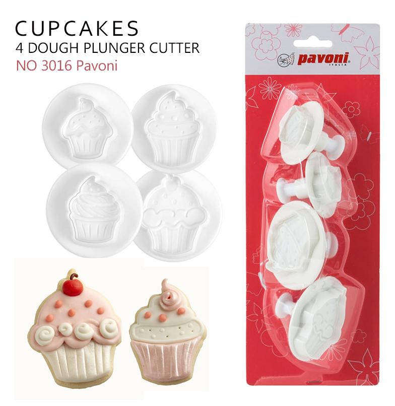 NO3016 Pavoni Dough Cutter Kit CUPCAKES (4 ชิ้น)