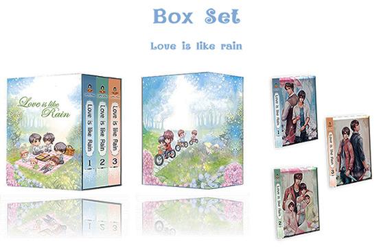 Love is like rain 3 เล่มจบ + กล่องจั่วปัง