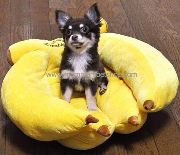 ที่นอนสุนัข ที่นอนหมา รูปกล้วยหอม (L)