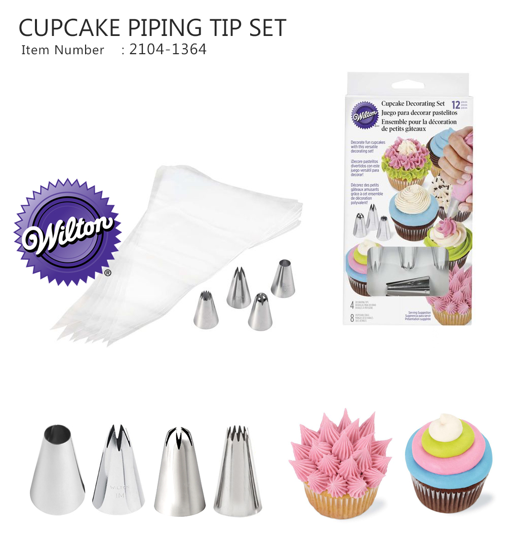 Wilton PC Cupcake Decorating Piping Set ( Wilton 2104-1364)