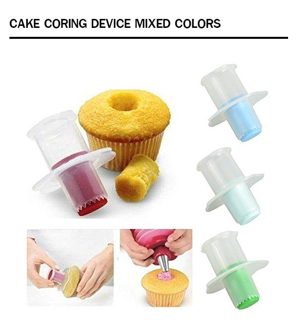 Cake coring device mixed colors TC3066