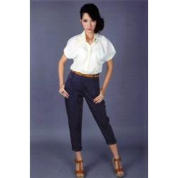 ashion เสื้อเชิ้ตแฟชั่นคอปก สีขาว สีเบจ สีดำ สีน้ำเงิน ใส่ทำงาน น่ารักมากๆ ค่ะ **Sale สินค้าลดราคา