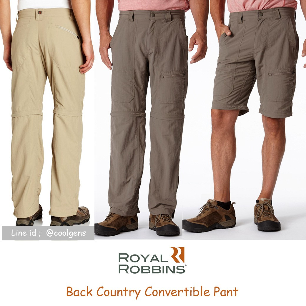 Royal Robbins Men's Back Country Convertible Pants