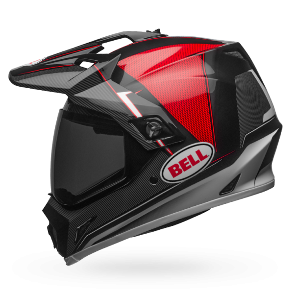 Bell MX-9 Adventure MIPS Gloss Black/Red/White Berm