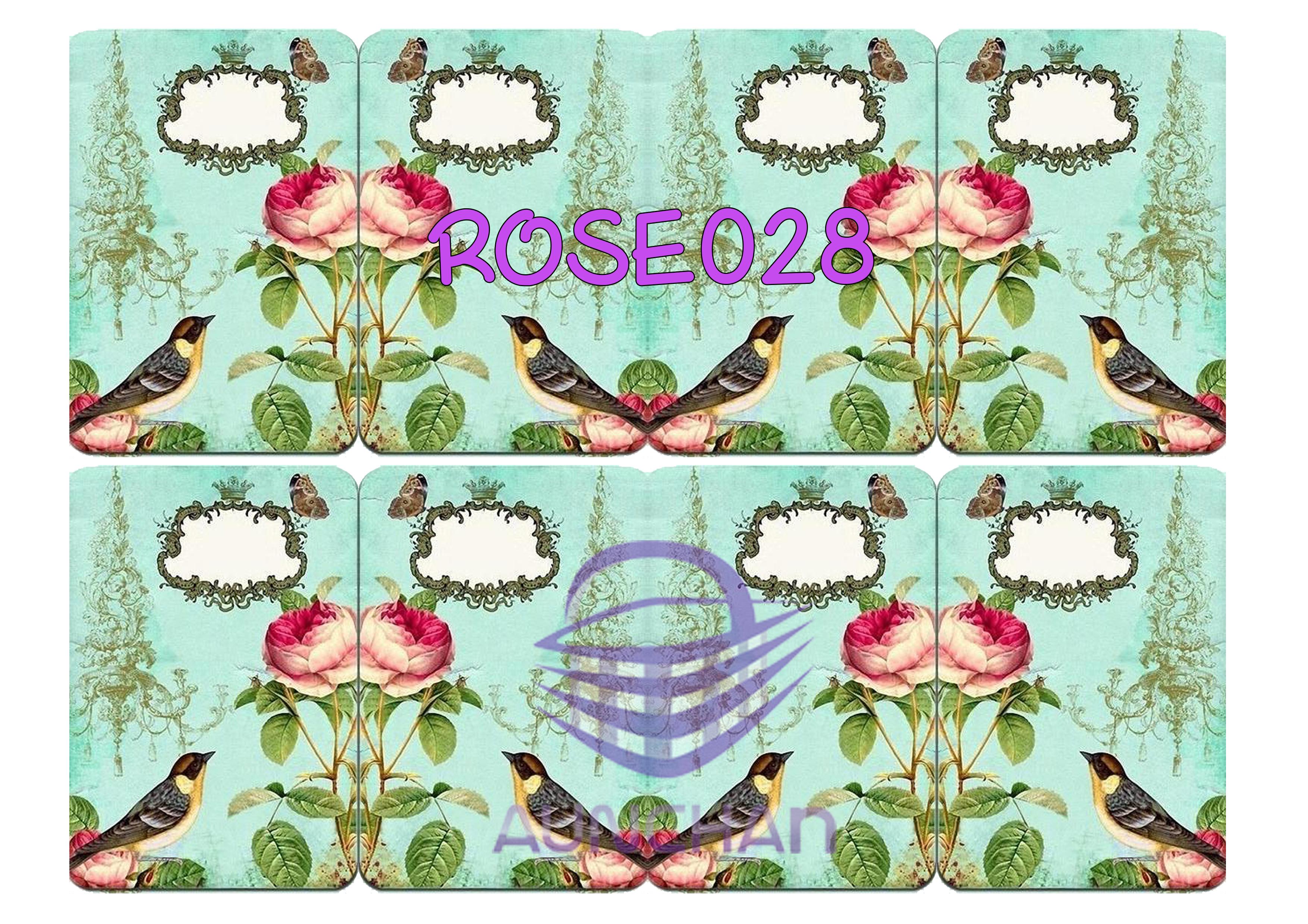 ROSE028 กระดาษแนพกิ้น 21x30ซม. ลายกุหลาบ