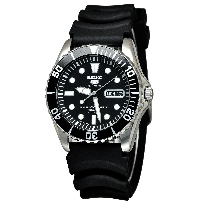 นาฬิกาข้อมือ Seiko 5 Sport Automatic รุ่น SNZF17J2 หน้า Rolex Made in Japan สายยาง