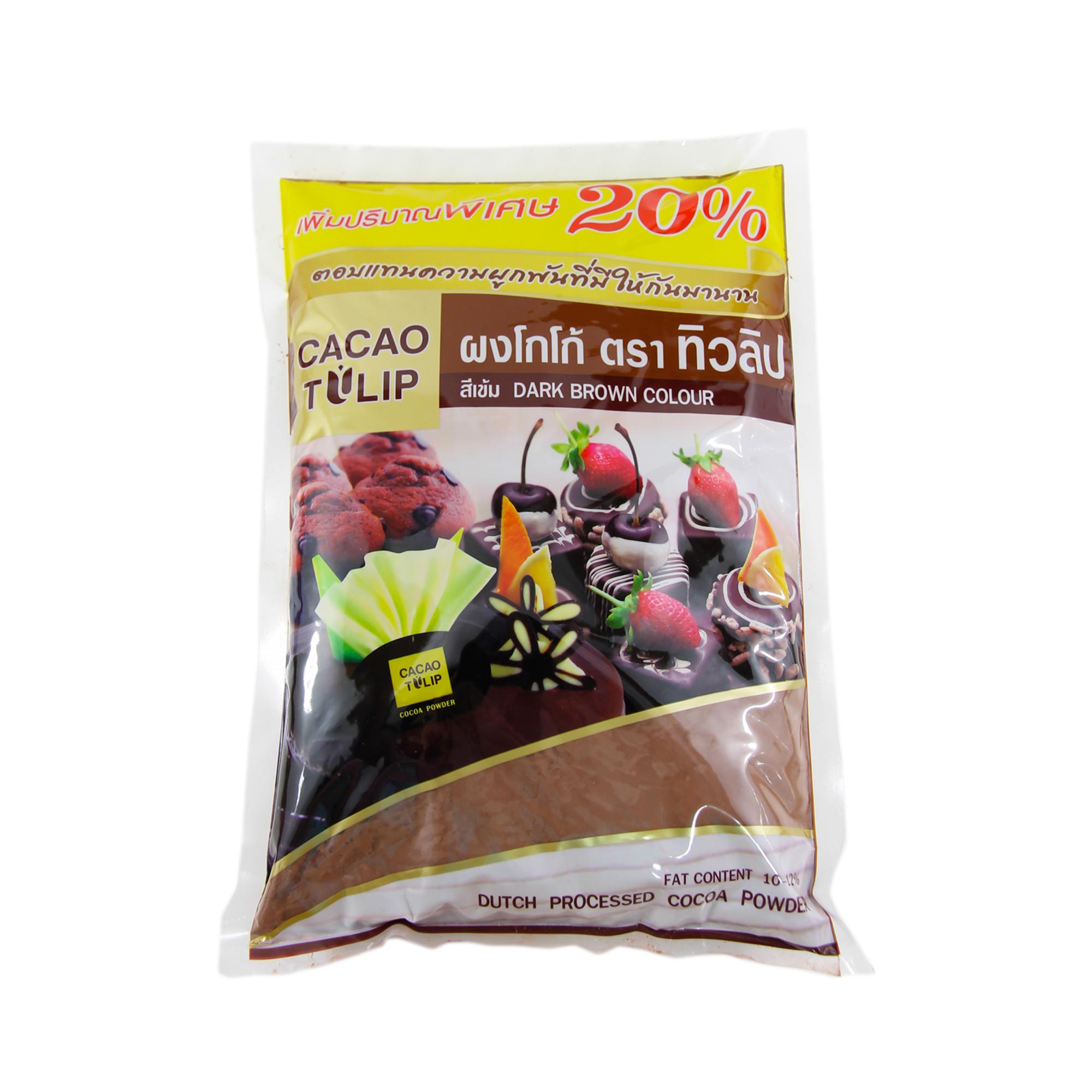 ทิวลิป ผงโกโก้สีเข้ม 480 g