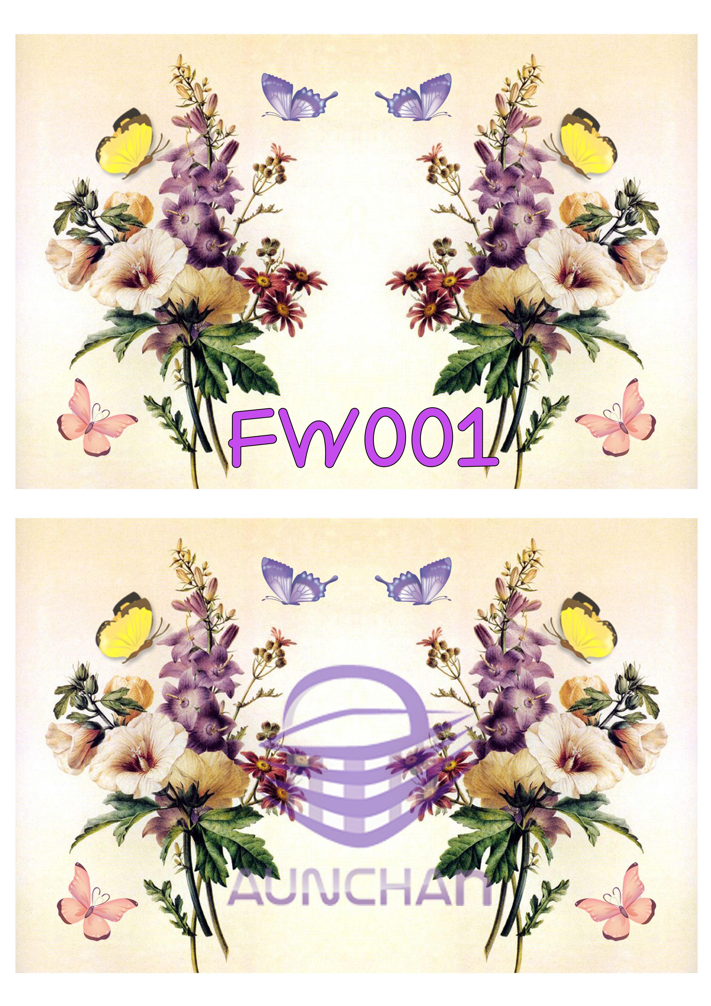 FW001 กระดาษแนพกิ้น 21x30ซม. ลายดอกไม้