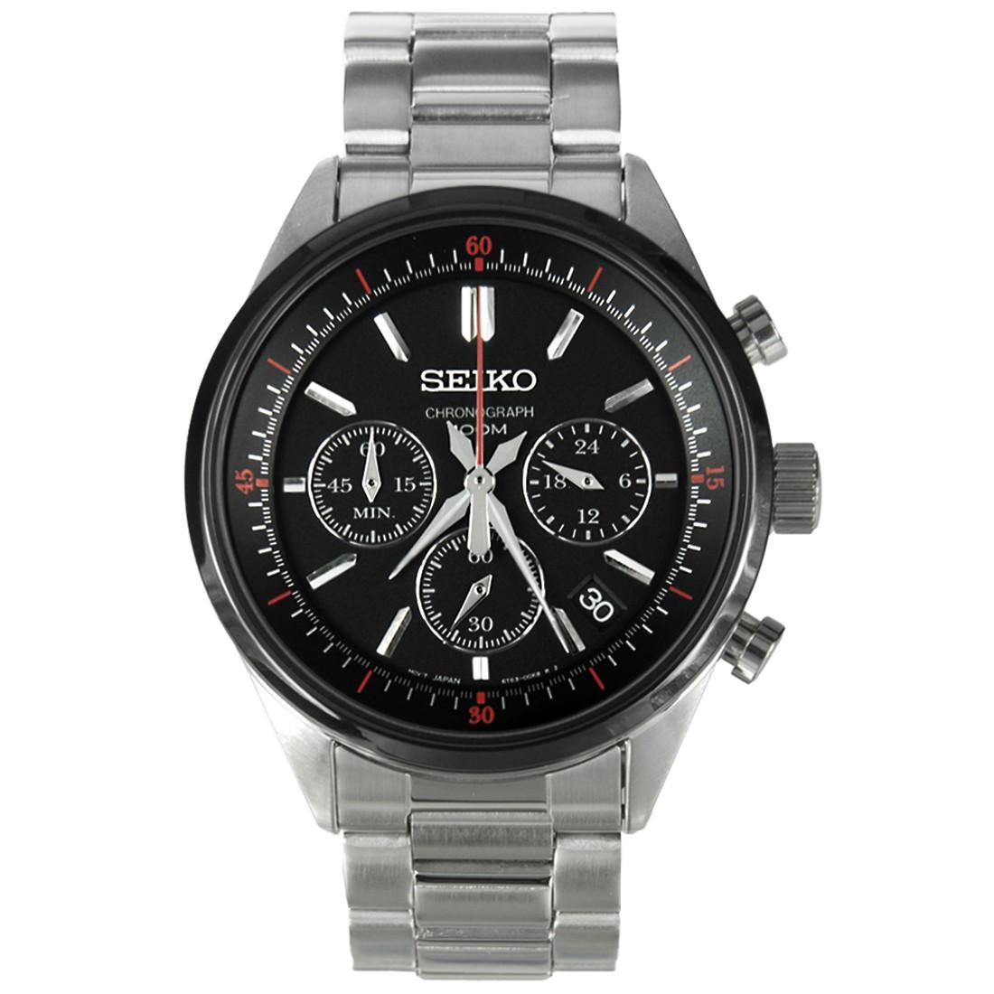 Seiko Mens Bracelet Watch Chronograph SSB063P1