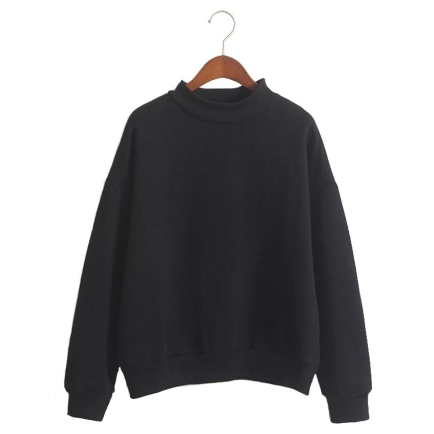 Women Hoodies Sports Sweatshirt Pullover Black