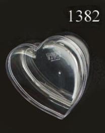 กล่องรูปหัวใจกลาง ตัวฝาใส 1382