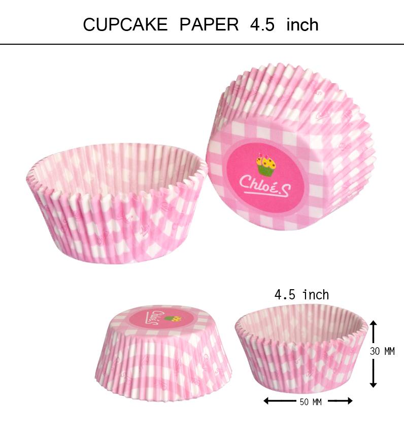 คัพเค้ก 4 ชั้น สีชมพูสก๊อต Chloe's 4.5 inch
