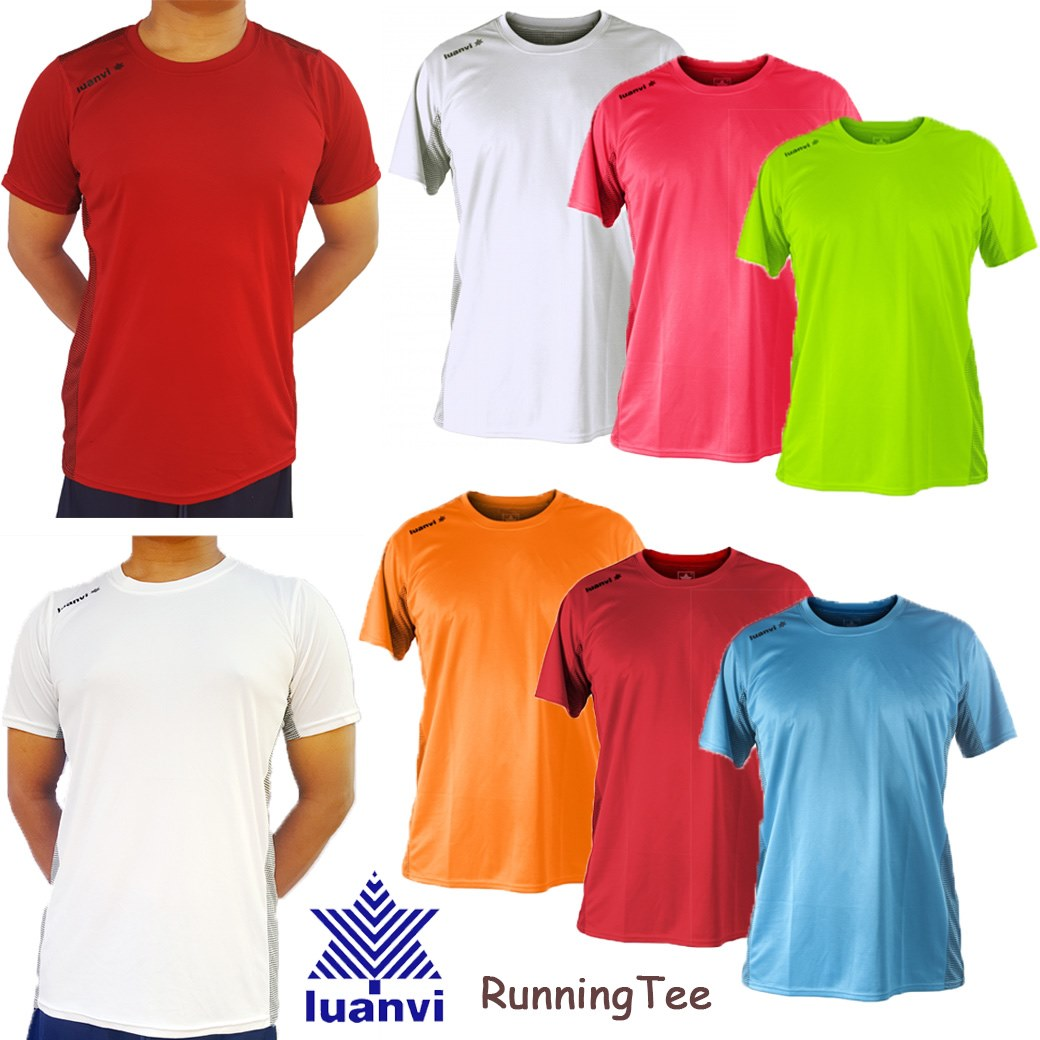 LUANVI MEN' S KNOCKOUT PLUS RUNNING TEE