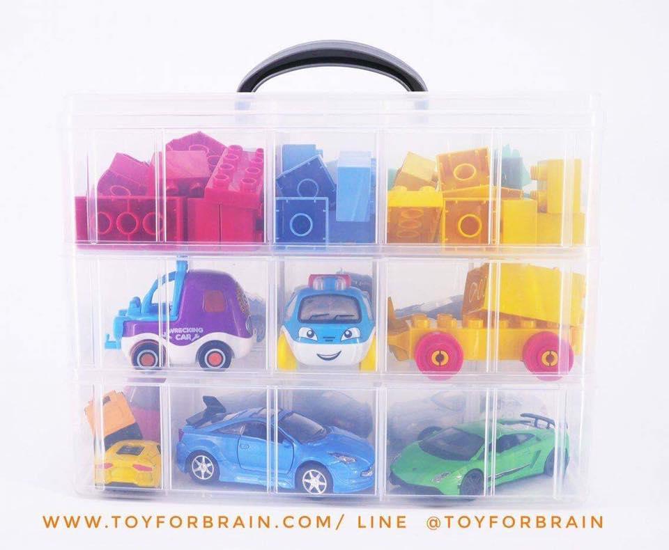 กล่อง Jumbo กล่องเก็บรถ hot wheels กล่องเก็บรถ Tomica กระเป๋าเก็บรถ 3 ชั้น
