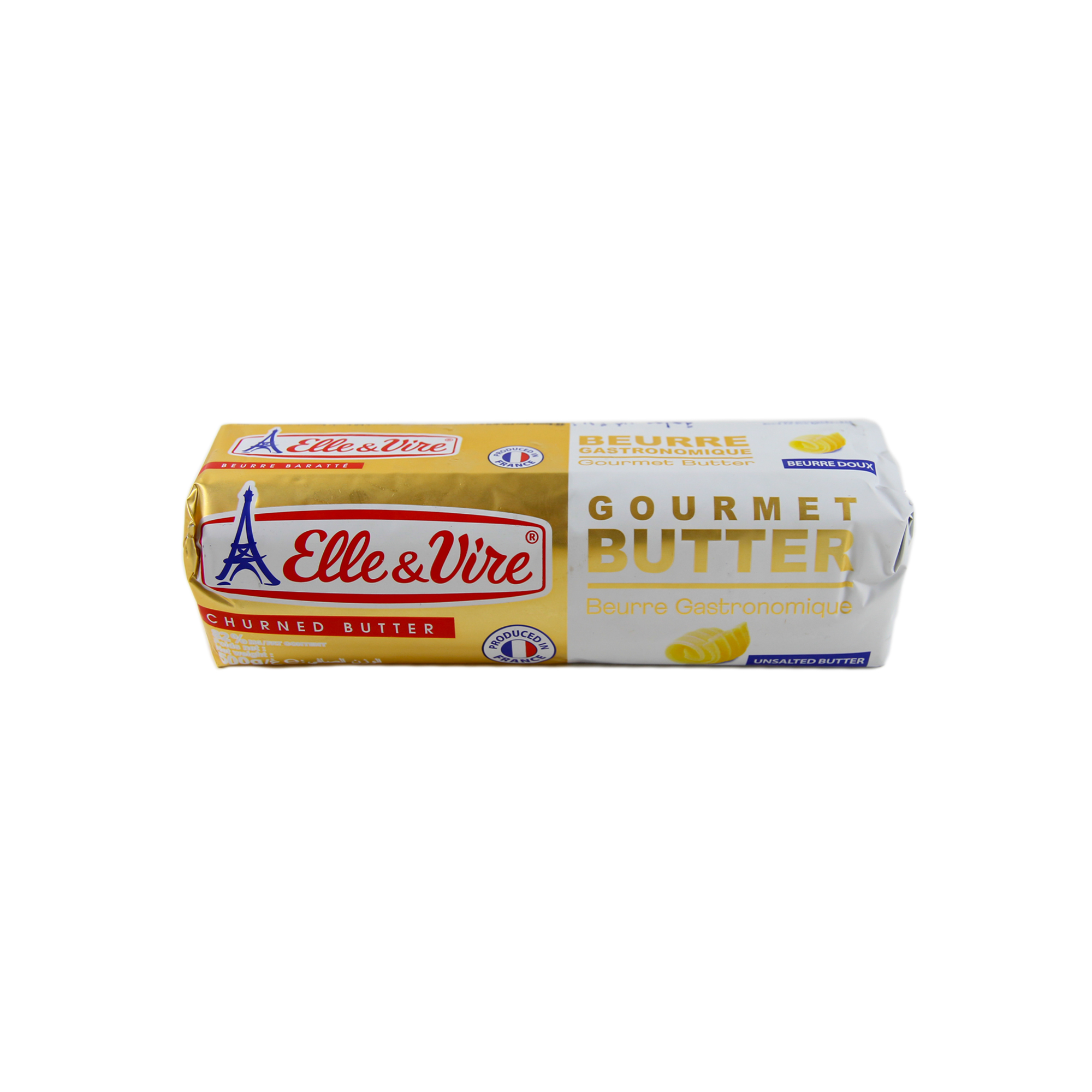 Elle&Vire เนยจืด เเบบเเถว (Elle&Vire unsalted butter roll) 500 g