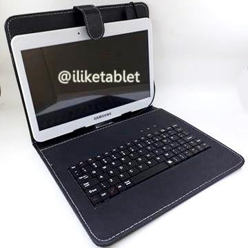 """เคสคีย์บอร์ด 10"""" Micro USB สำหรับแท็บเล็ต 10 นิ้ว -สีดำ"""