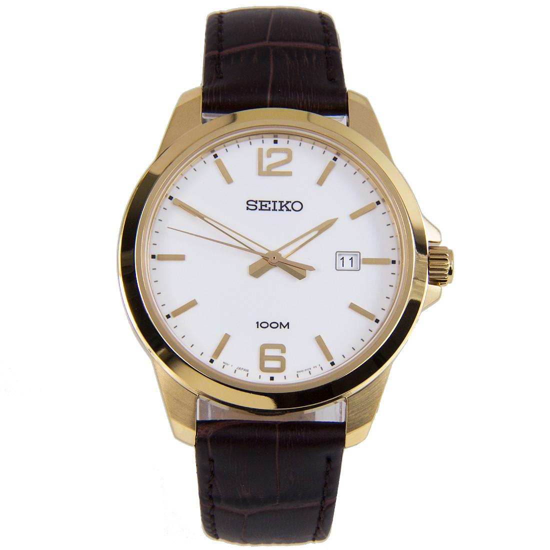 Seiko นาฬิกาข้อมือ สายหนังแท้รุ่น SUR252P1