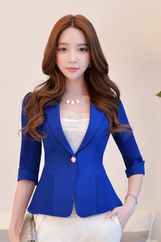 เสื้อสูทแฟชั่น เสื้อสูทสำหรับผู้หญิง พร้อมส่ง สีน้ำเงิน ผ้าคอตตอน 100 % เนื้อดี คุณภาพงานพรีเมี่ยม งานตัดเย็บเนี๊ยบ ไม่มีซับในระบายอากาศได้ค่ะ