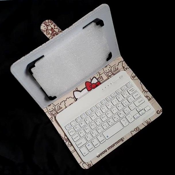 เคส Keyboard Bluetooth ลายการ์ตูน สำหรับแท็บเล็ต 7-8 นิ้ว