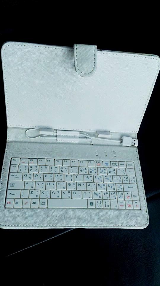 SALE เคสคีย์บอร์ด สวยๆแป้นพิมพ์ไทย-อังกฤษ USB สำหรับแท็บเล็ต 7 นิ้ว -สีขาว
