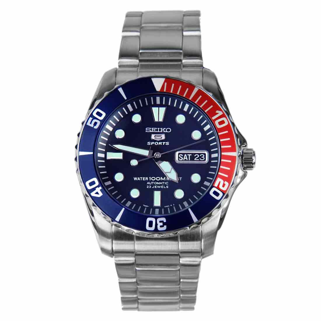 นาฬิกาผู้ชาย SEIKO Submariner Automatic รุ่น SNZF15K1 Men's Watch