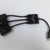 สาย Micro USB HUB OTG พร้อมชาร์จอุปกรณ์ต่อพ่วง