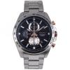 SEIKO Sport นาฬิกาข้อมือผู้ชาย Chronograph สีเงินหน้าปัดดำ รุ่น SSB281P1