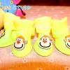 รองเท้าสุนัข รองเท้าแมว บูทยางสีเหลือง (4 ข้าง)