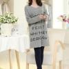 fashion เสื้อกันหนาวไหมพรม สีเทา คอวี ใส่เที่ยว สีสดใส น่ารักๆ