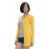 Fashionstory เสื้อคลุมไหมพรมคาดิแกนตัวยาว - สีเหลือง
