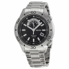 Seiko Superior Automatic Black Dial Stainless Steel Mens Watch SSA181K1