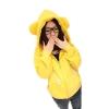 Tucky&Jiang เสื้อคลุมแขนยาว มีฮู้ด มีหู (สีเหลือง)