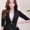 เสื้อสูทแฟชั่น เสื้อสูทสำหรับผู้หญิง พร้อมส่ง สีดำ ผ้าคอตตอน 100 % เนื้อดี คุณภาพงานพรีเมี่ยม งานตัดเย็บเนี๊ยบ ไม่มีซับในระบายอากาศได้ค่ะ