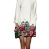 Lace Off Shoulder Mini Dresses Online (Beige)