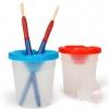 ถ้วยล้างพู่กันแดง Children Paint Brush and Non-Spill Paint Pot