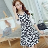Asia Dresses Online สีขาวดำ ลายหัวใจ