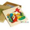 Uncle Wood - 3 layer Jigsaw Puzzle Dinosaur' ตัวต่อจิ๊กซอว์ไม้-ไดโนเสาร์