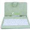 เคสคีย์บอร์ด สวยๆแป้นพิมพ์ไทย-อังกฤษ Micro USB สำหรับแท็บเล็ต 7 นิ้ว -สีเขียวอ่อน