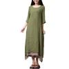 ZANZEA Womens Casual Loose BOHO Sundress Cotton Linen A-line LongAsia Dresses