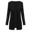 ZANZEA Women Leather Long Sleeve Jacket Blazer Cardigan Coat CapeKnitted Top
