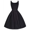 Hequ Vintage Hepburn Wind Waist Thin Fluffy Women is Fashion Dresses (Black)
