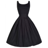 Yimi Big Hem Women Red Vintage Sleeveless Slim Party Shop Fashion Dresses Online Black