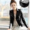 เสื้อแจ็คเก็ต เสื้อหนังแฟชั่น พร้อมส่ง สีดำ หนังเงา แบบเท่ห์ๆ อินเทรนด์ สไตล์เกาหลี